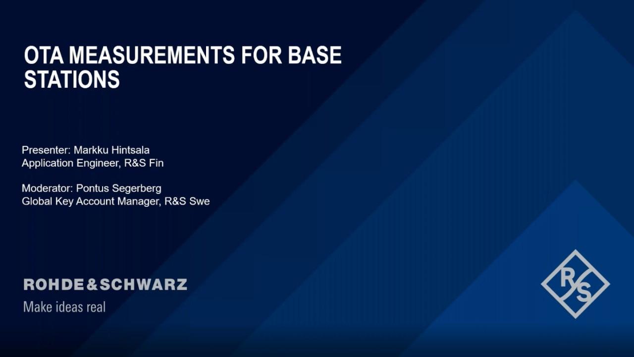OTA Measurements for Base Stations