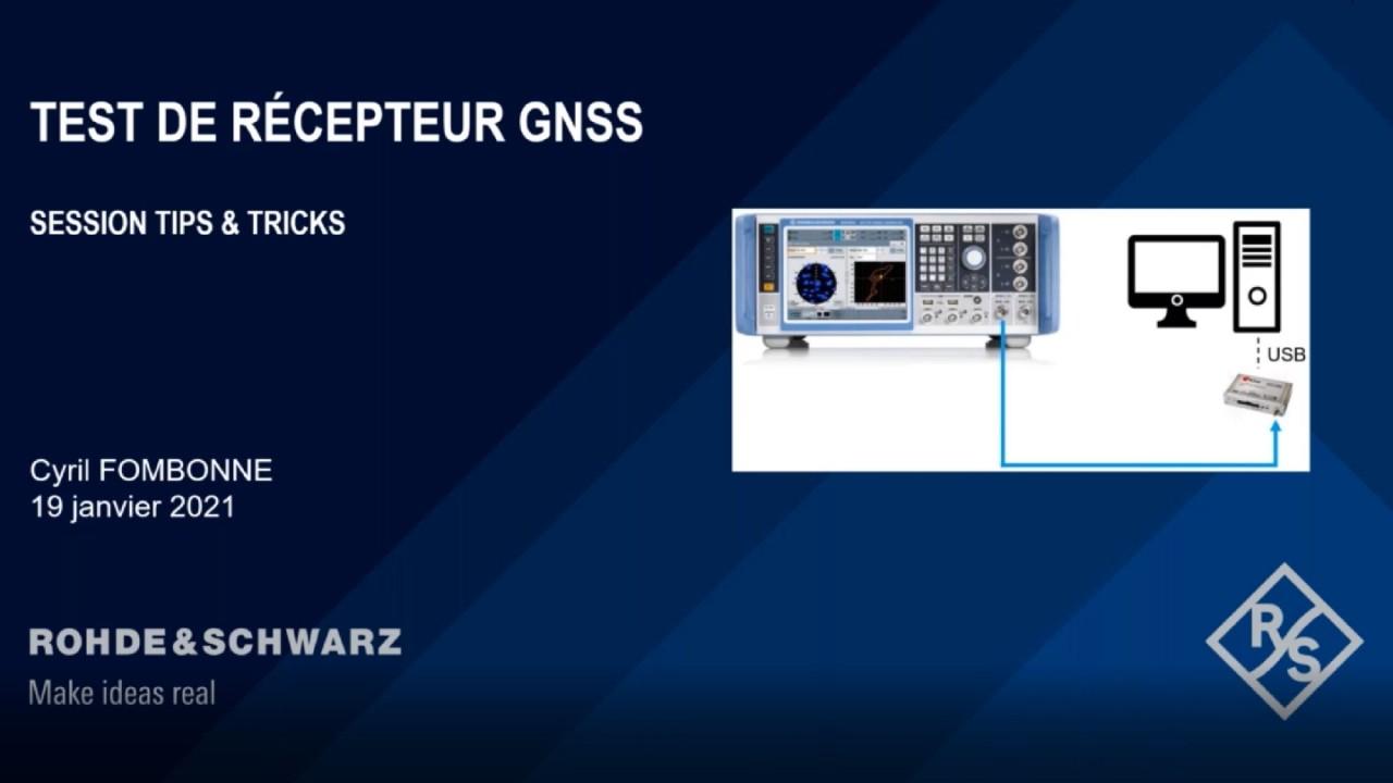 Webinar : Mesure de performances de récepteur GNSS