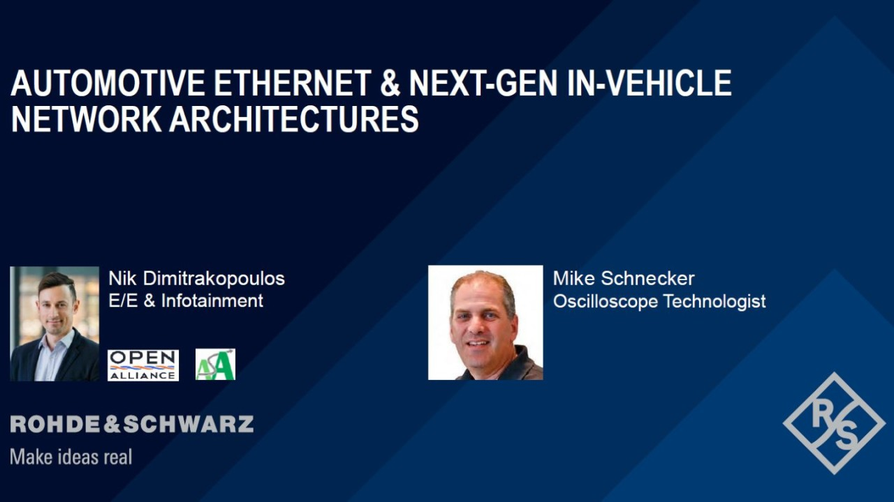 Webinar: Automotive Ethernet and next-gen in-vehicle networks