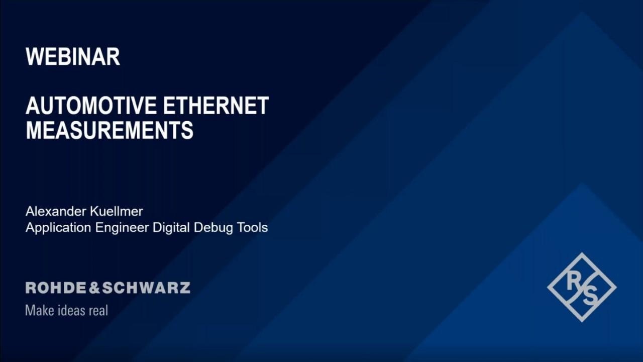 Automotive Ethernet Measurements
