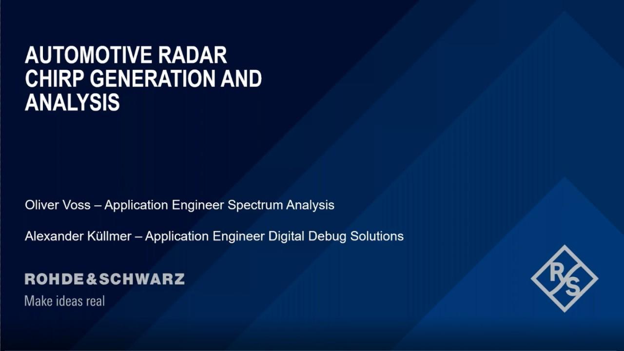 Automotive Radar, Chirp Generation and Analysis