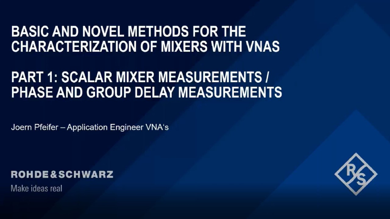 Basic and novel methods for the characterization of mixers with VNAs – part 1