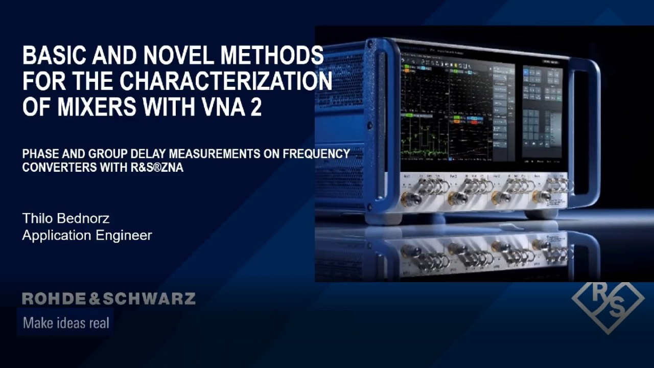 Basic and novel methods for the characterization of mixers with VNAs – part 2