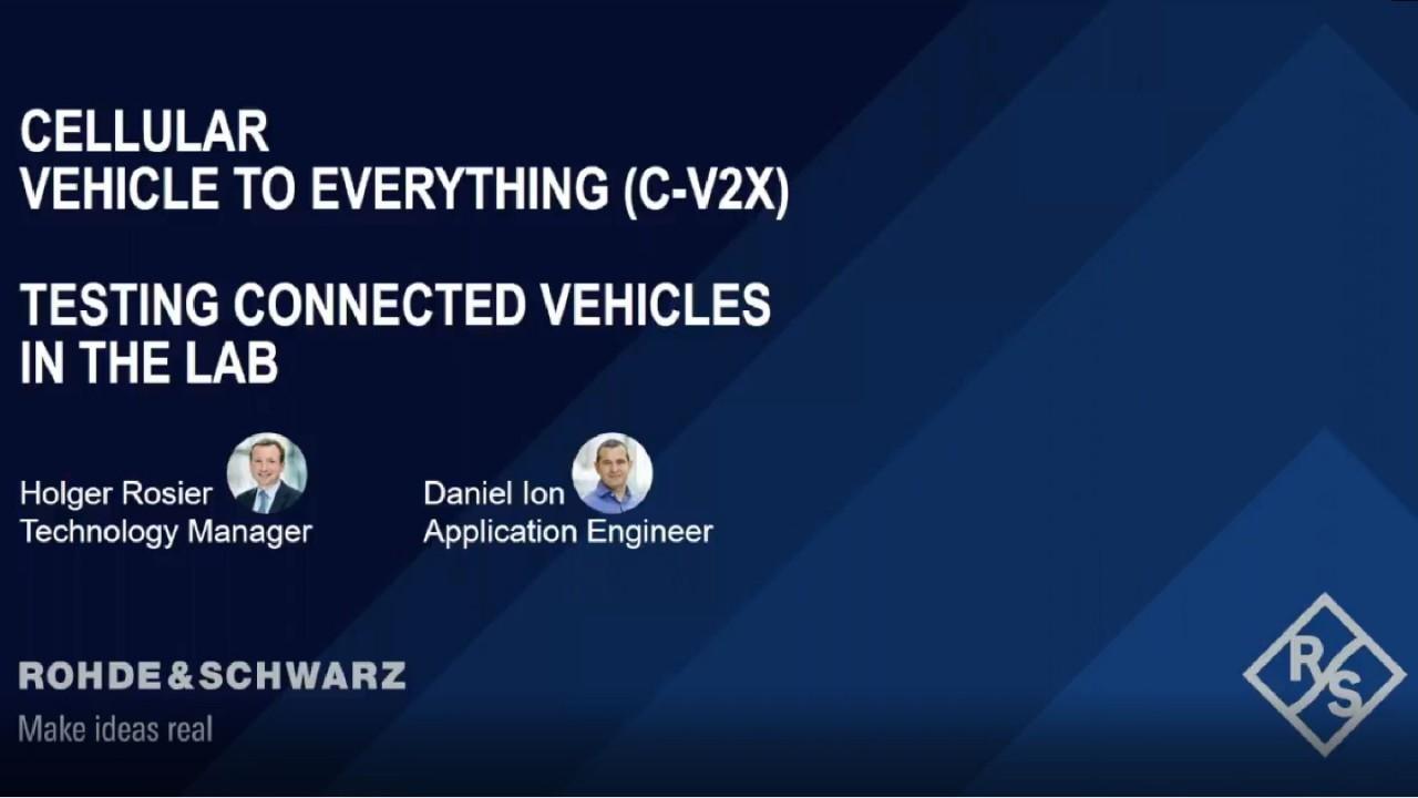 Webinar: Cellular Vehicle to Everything