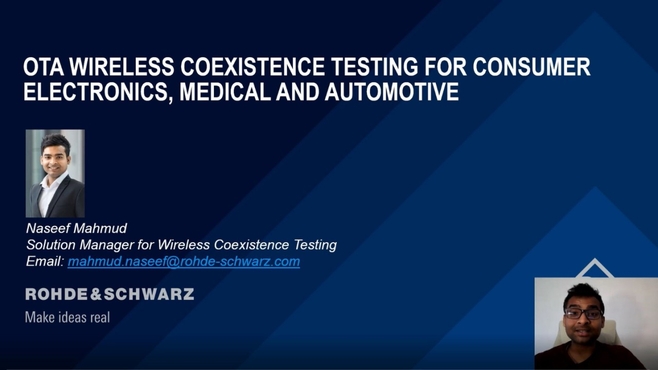 OTA Wireless Coexistence Testing Products and Solutions for Consumer Electronics, Medical and Automotive