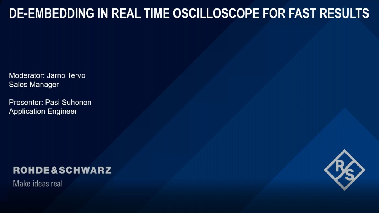 Deembedding in Realtime Oscilloscope for Fast Results