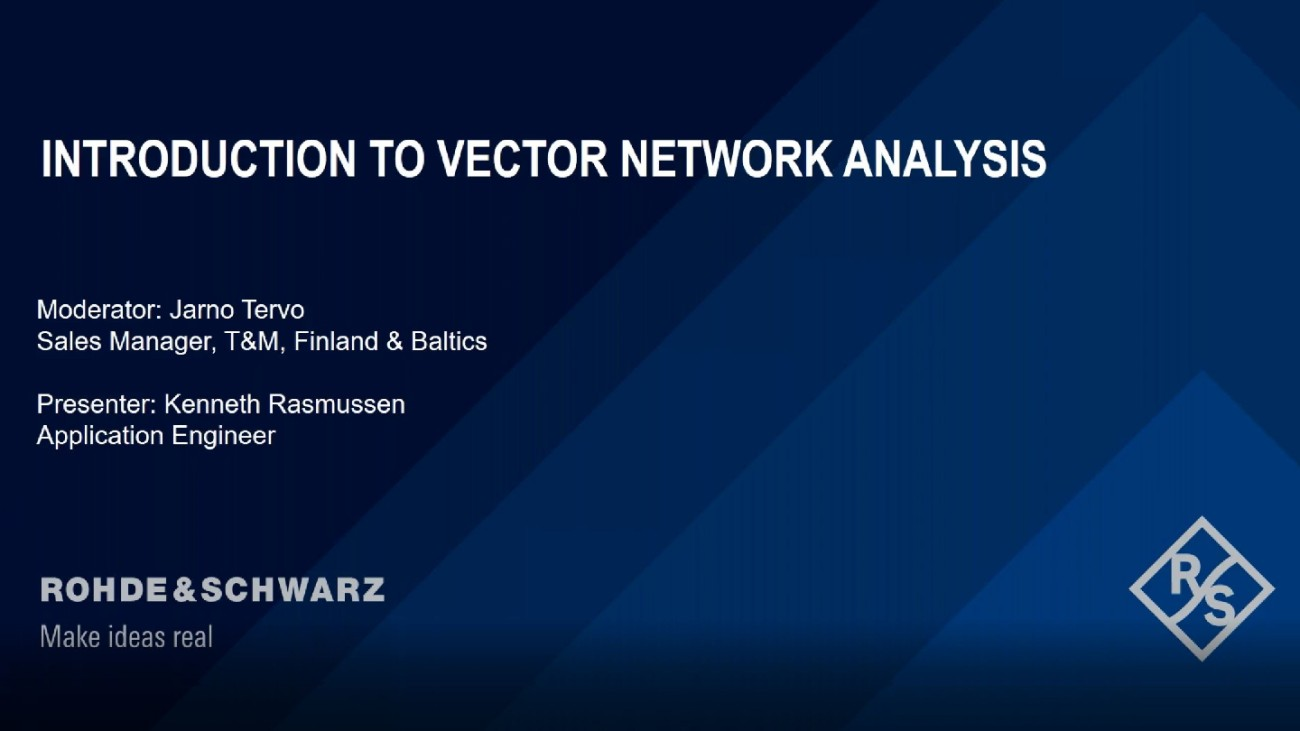 Introduction to Vector Network Analysis