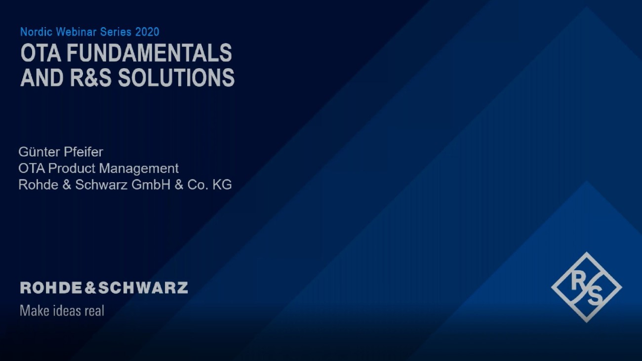 OTA fundamentals and Rohde & Schwarz Solutions