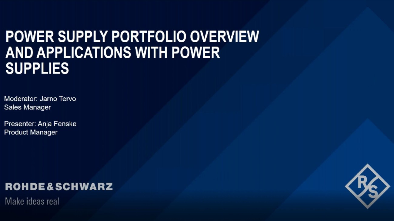 Power Supply Portfolio Overview and Applications with Power Supplies