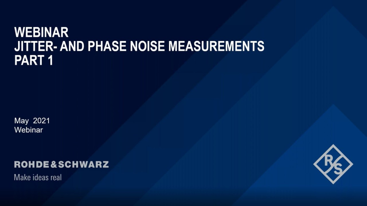 Phase Noise and Advanced Jitter Measurements Part 1