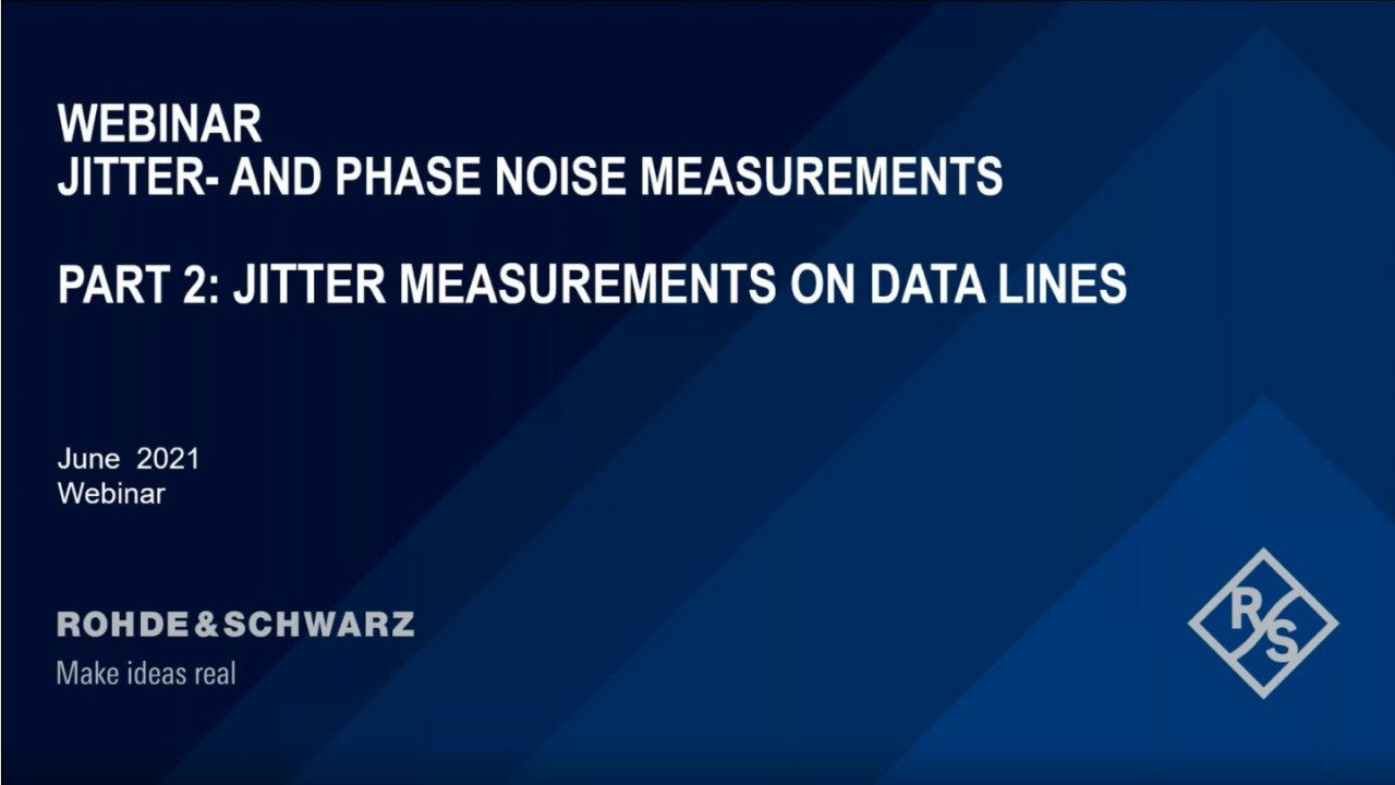 Phasenoise and Advanced Jitter Measurements Part 2