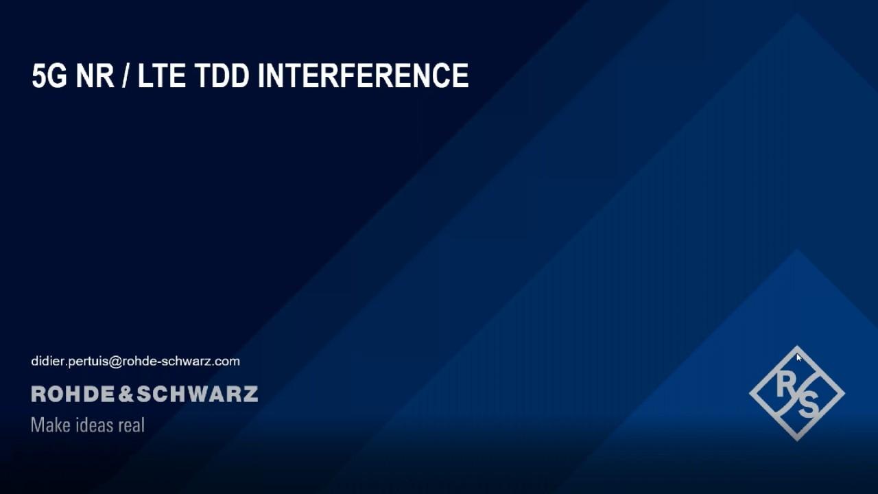 Interférences TDD (LTE, 5G)