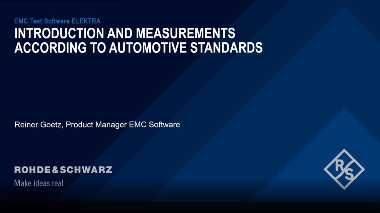 Automotive measurements with R&S®ELEKTRA
