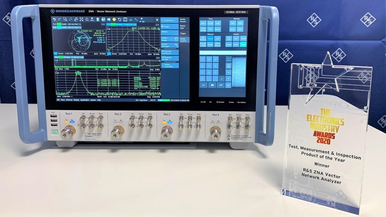 Векторный анализатор цепей R&S®ZNA удостоен премии электронной промышленности ELECTRONICS INDUSTRY AWARDS