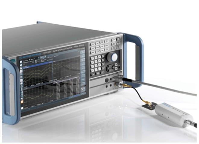 Измерение коэффициента усиления и шум-фактора усилителя с помощью интеллектуального источника шума R&S®FS-SNS 40 и анализатора спектра и сигналов R&S®FSVA 3030.