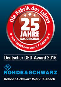 """Werk Teisnach gewinnt """"GEO-Award 2016"""""""