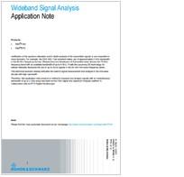 Wideband Signal Analysis Application Note