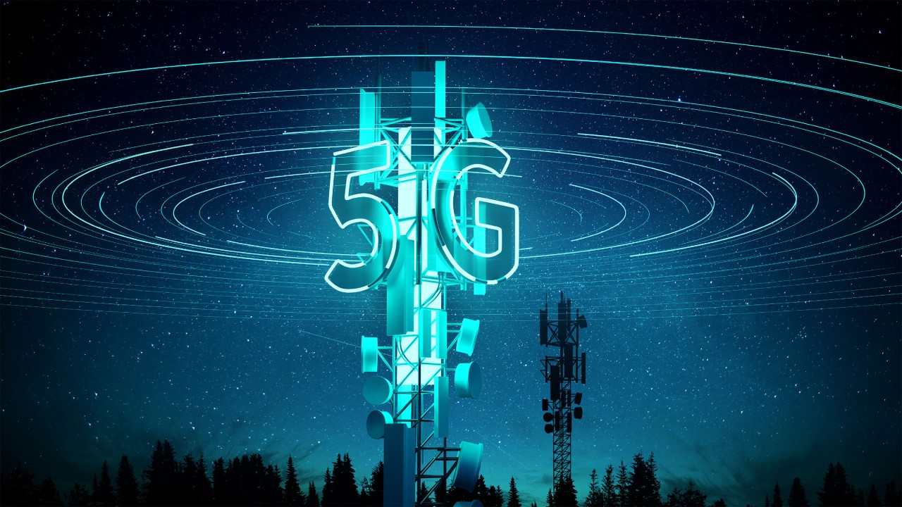 5G on a cell tower